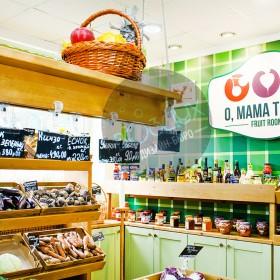 Оформление сети магазинов овощей и фруктов