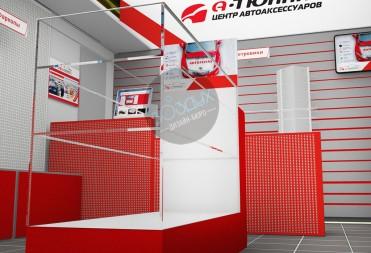 Дизайн магазина автоаксессуаров