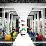 Детский магазин разделенный по зонам